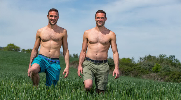 Identical twins David and Stephen Flynn, owners of the Happy Pear healthy eating brand. Photo: Mark Condren