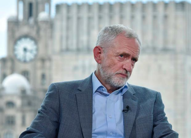 Jeremy Corbyn appearing on the BBC1 current affairs programme, The Andrew Marr Show Photo credit: Jeff Overs/BBC/PA Wire