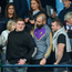 Leinster rugby players, left to right, Tadhg Furlong, Scott Fardy, and Jack McGrath, and former Taoiseach Bertie Ahern at the Leinster GAA Hurling Senior Championship Round 2 match between Dublin and Wexford at Parnell Park in Dublin. Photo by Daire Brennan/Sportsfile