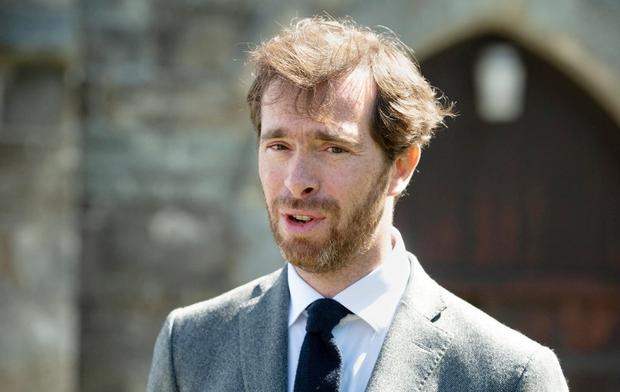 Appeal: Son Pierre Louis Baudey-Vignaud in Cork yesterday to ask for information about the murder of Sophie Toscan du Plantier ahead of the trial of Ian Bailey. Photo: Provision