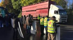 Farmers at a previous ICSA protest in Monaghan