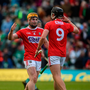 Niall O'Leary, left, and Darragh Fitzgibbon of Cork celebrate