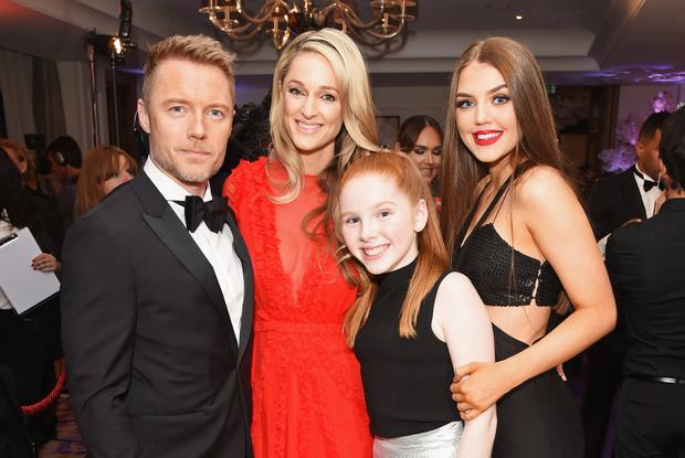 (L to R) Ronan Keating, Storm Keating, Ali Keating and Missy Keating attend the 8th Global Gift Gala London in aid of Great Ormond Street Hospital Children's Charity at Corinthia Hotel London on November 18, 2017 in London, England. (Photo by David M. Benett/Dave Benett/Getty Images)