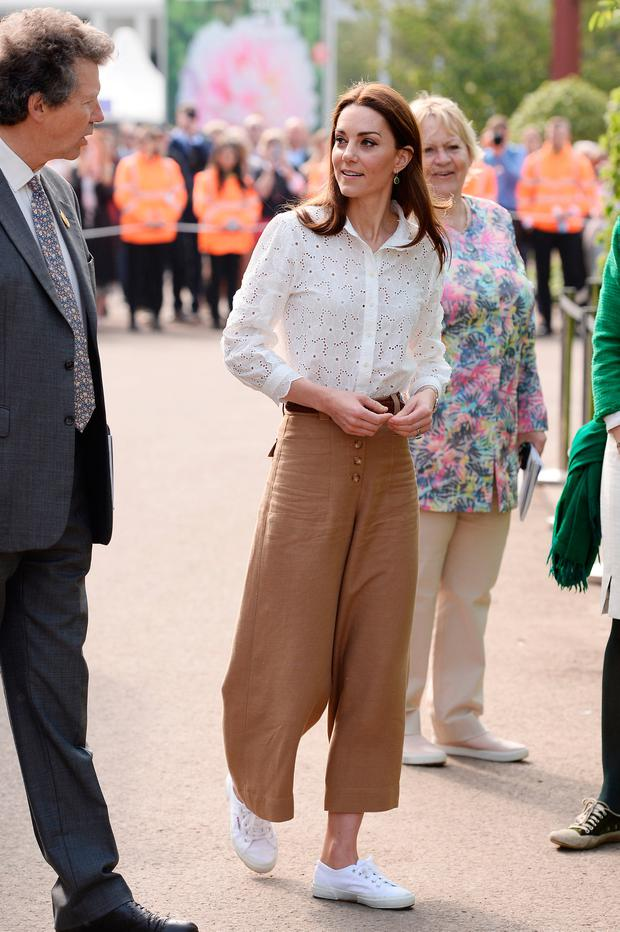 Catherine, Duchess of Cambridge attends the RHS Chelsea Flower Show 2019 press day at Chelsea Flower Show on May 20, 2019 in London, England. (Photo by Jeff Spicer/Getty Images)