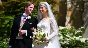 Lady Gabriella Windsor and Thomas Kingston leave St George's Chapel,following their wedding, in Windsor Castle, near London, Britain May 18, 2019. Victoria Jones/Pool via REUTERS