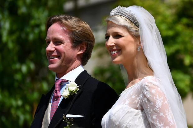 Lady Gabriella Windsor and Thomas Kingston leave St George's Chapel, following their wedding, in Windsor Castle, near London, Britain May 18, 2019. Victoria Jones/Pool via REUTERS