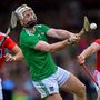 Cian Lynch of Limerick in action against Stephen McDonnell, left, and Bill Cooper of Cork during the Munster GAA Hurling Senior Championship Round 2 match between Limerick and Cork at the LIT Gaelic Grounds in Limerick. Photo by Piaras Ó Mídheach/Sportsfile