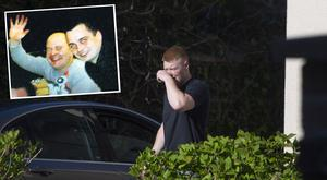 David Curran in Clondalkin and inset, murder victims Pawel Kalite, left (26), and Mariusz Szwajkos (27)