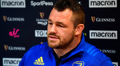 Cian Healy is a relative of former Ireland soccer kitman Charlie O'Leary but he never got hooked on the round-ball game. Photo by Ramsey Cardy/Sportsfile