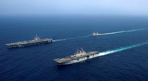 Geared up: US forces conduct operations in the Arabian Sea. Photo: US Navy/Handout via Reuters