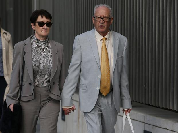 Traumatic: Geraldine and Patrick Kriegel, parents of schoolgirl Ana Kriegel, leaving court yesterday. Photo: Collins Courts