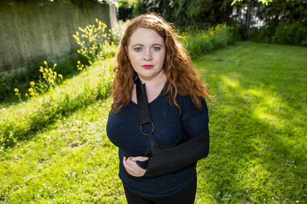 Vicious assault: Rachael Batten was struck several times by her attackers as she lay on the ground. Photo: Doug O'Connor