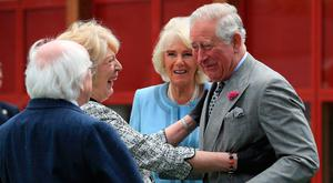 Royal seal of approval: Charles and Camilla meet President Michael D Higgins and his wife Sabina. Photo: Owen Humphreys/PA Wire