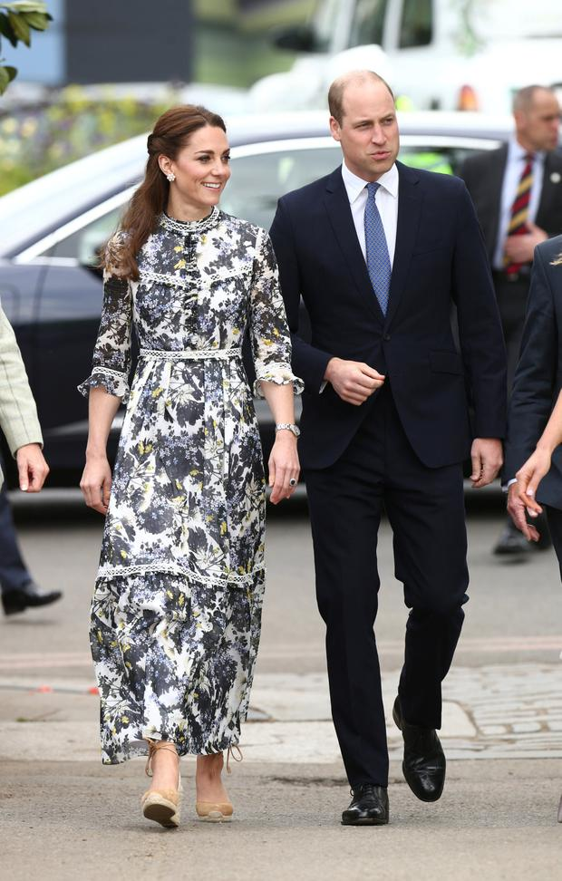 Britain's Prince William and Catherine Duchess of Cambridge arrive at the Chelsea Flower Show in London, Britain May 20, 2019. Yui Mok/Pool via REUTERS
