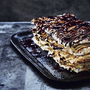 Layered Mocha Meringue Cake - a cake designed for a crowd