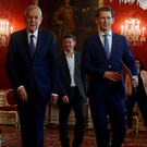 Task ahead: Austria's chancellor Sebastian Kurz (right) who said he wanted stability in government, with President Alexander Van der Bellen (left). Photo: REUTERS/Leonhard Foeger