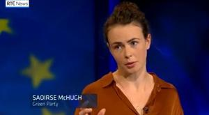 Saoirse McHugh on RTE Prime Time debate.