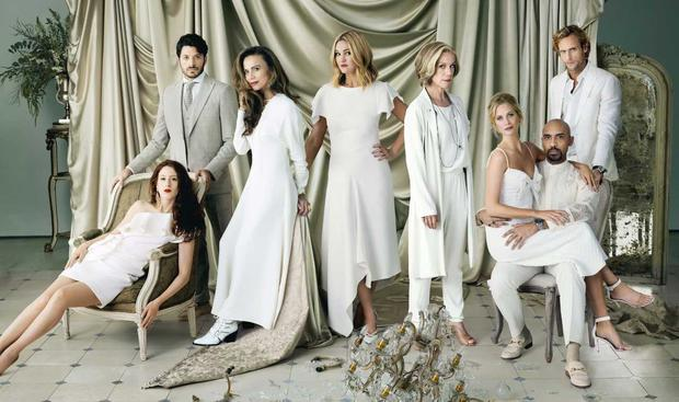 The cast of Riviera