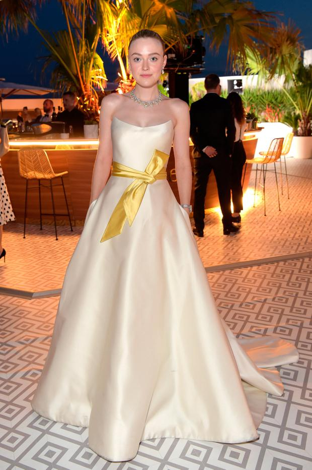 Dakota Fanning attends the Once Upon A Time In Hollywood After Party at JW Marriott on May 21, 2019 in Cannes, France. (Photo by Antony Jones/Getty Images for Sony Pictures)