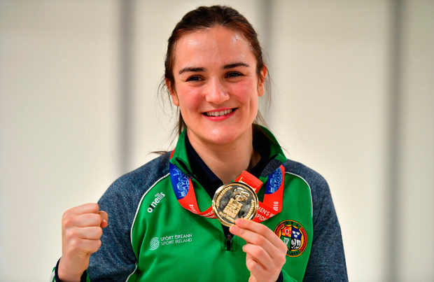 Amateur world champion Kellie Harrington should still be able to chase gold in Japan after the IOC's intervention. Photo: Brendan Moran/Sportsfile