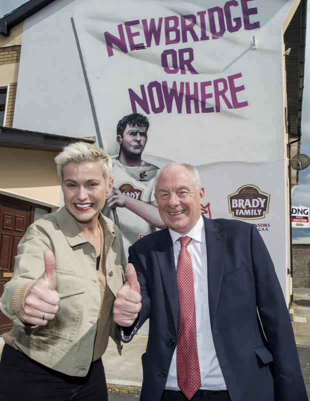 On the campaign trail: Maria Walsh with Michael Ring in Newbridge, Co Kildare. Picture: Doug O'Connor