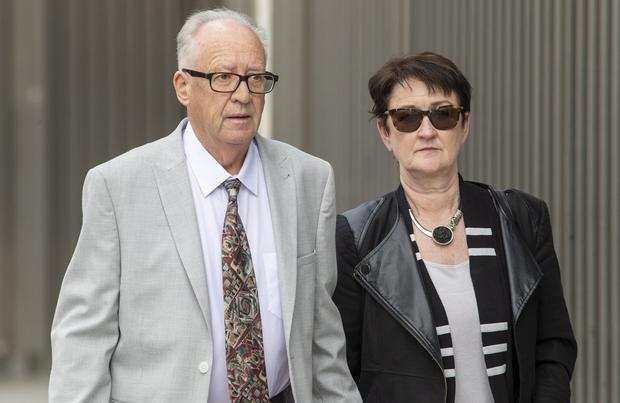Patric and Geraldine Kriegel, parents of schoolgirl, Ana Kriegel, who died on May 14 last year. Photo: Collins Courts
