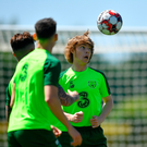 Luca Connell during a Republic of Ireland training session at The Campus in Quinta do Lago, Faro, Portugal. Photo by Seb Daly/Sportsfile