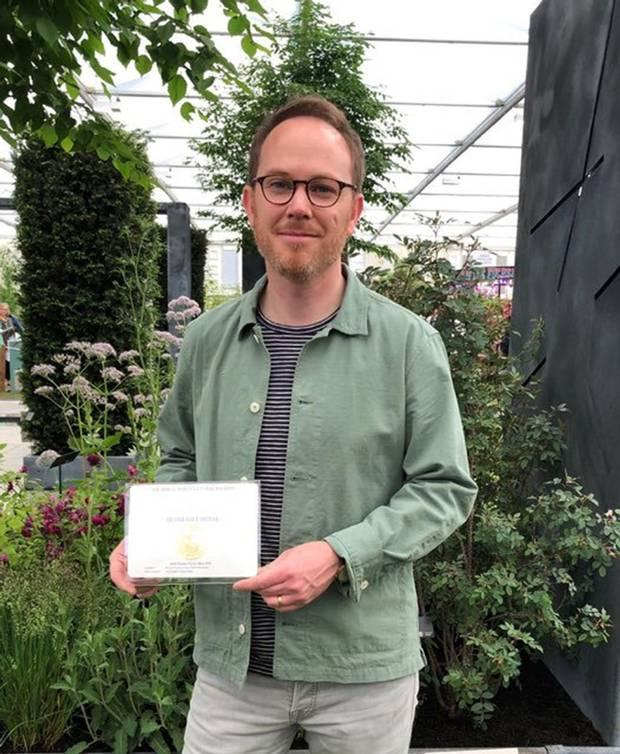 Colm Joseph sold his home to follow his dream of becoming a garden designer and won a medal at the prestigious Chelsea Flower Show