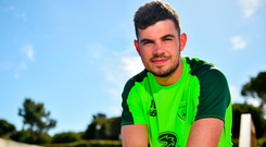 John Egan is relishing is shot at the Premier League. Photo: Seb Daly/Sportsfile