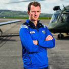 Laois manager John Sugrue at the launch of the Leinster SFC which his team enter against Westmeath on Sunday. Photo: David Fitzgerald/Sportsfile