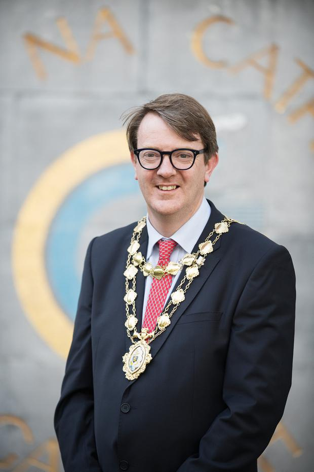 Mayor Niall McNelis says the car helps him 'sell the city'