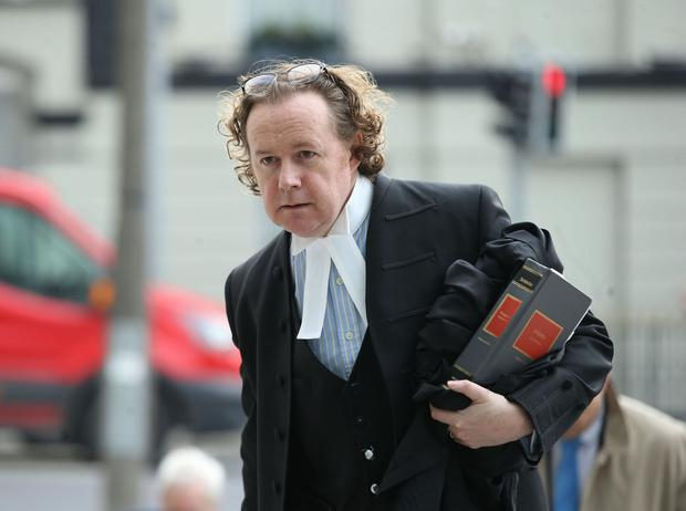 Prosecution: Michael Bowman SC at the Central Criminal Court during the Patrick Quirke case. Photo: Collins Courts