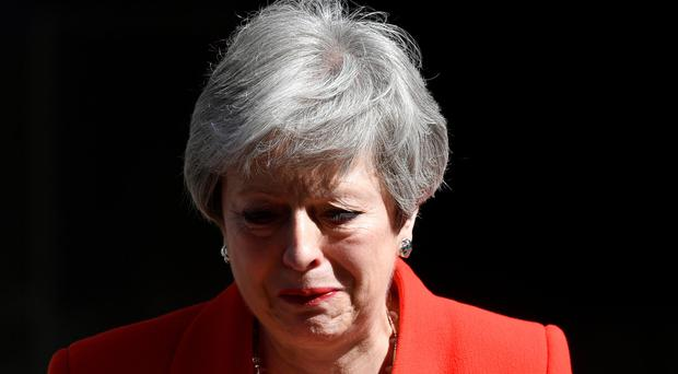 British Prime Minister Theresa May reacts as she delivers a statement in London, Britain REUTERS/Toby Melville