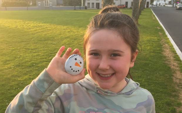 Fáire Hynes brought the rock she found into school to show her classmates
