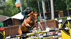 Louth's Mark McAuley in action at the five-star Nations Cup show in Rome