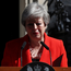 British Prime Minister Theresa May delivering her resignation statement. Photo: REUTERS/Simon Dawson