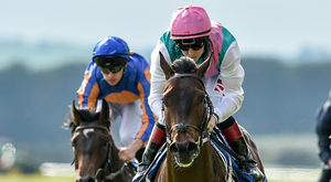 Siskin, with Colin Keane up, on their way to winning the Irish Stallion Farms EBF Marble Hill Stakes at The Curragh. Photo: Sportsfile