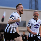 Seán Hoare of Dundalk celebrates after scoring. Photo: Sportsfile