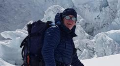 Mountaineer Kevin Hynes, from Galway, who died on the descent from Mount Everest. Picture courtesy of RTÉ