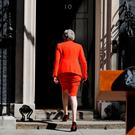 Heading for the door: Britain's Prime Minister Theresa May leaves after announcing her resignation outside 10 Downing Street in London yesterday. Photo: Tolga Akmen/Getty