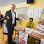 Polling: Taoiseach Leo Varadkar casts his vote at Scoil Thomáis, Laurel Lodge, Castleknock, Dublin. PHOTO: MARK condren
