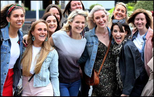 Minister Helen McEntee arriving with friends at Croke Park for the Spice Girls Concert. Pic Steve Humphreys 24th May 2019