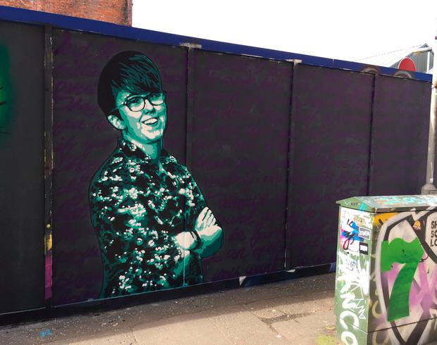 File photo dated 06/05/19 of a new mural of Lyra McKee in Belfast city centre. Photo: David Young/PA Wire