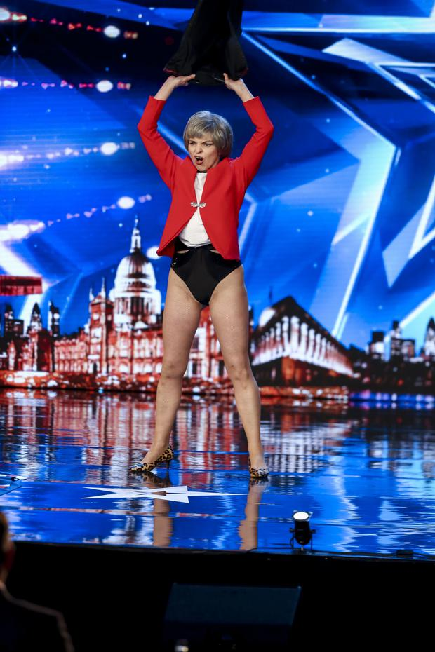 Kath Morgan-Thompson during the audition stage for ITV1's talent show, Britain's Got Talent. PRESS ASSOCIATION Photo. Issue date: Saturday May 25, 2019. Photo: Tom Dymond/Syco/Thames ITV/PA Wire