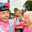 Jamie Spencer celebrates with Co-owner Anne Plummer after winning the Tattersalls Irish 2,000 Guineas at The Curragh Racecourse in Kildare. Photo by Matt Browne/Sportsfile
