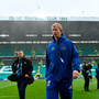 Leinster head coach Leo Cullen walks the pitch prior to the Guinness PRO14 Final match between Leinster and Glasgow Warriors at Celtic Park in Glasgow, Scotland. Photo by Brendan Moran/Sportsfile