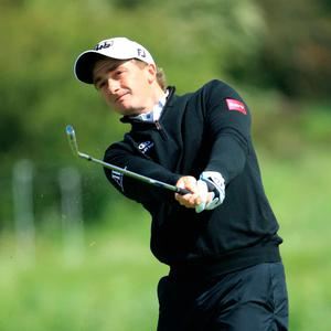 Paul Dunne of Ireland in action during the Made in Denmark