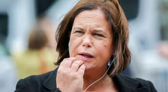 Sinn Fein leader Mary Lou McDonald pictured at the count centre in the RDS. Picture; Gerry Mooney