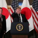 U.S. President Donald Trump attends a Japanese business leaders event in Tokyo, Japan May 25, 2019. REUTERS/Jonathan Ernst