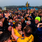 Roscommon players and supporters celebrate
